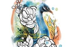 Tattoo design: Peacock