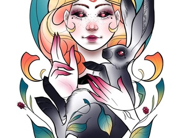 Tattoo design: Bunny Girl