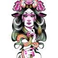 Tattoo design: Serpent Girl