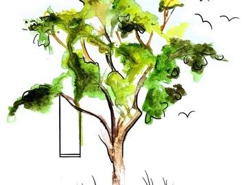 Tattoo design: Watercolour Tree