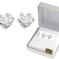 Liquidation/Wholesale Lot: 20 Pair  4 Carat CZ Heart Earrings in Beautiful Gift Box- $79.99