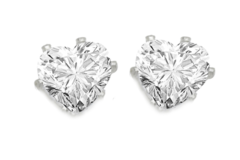 Liquidation/Wholesale Lot: 50 pair Heart CZ Stud Earrings- 4 Carats
