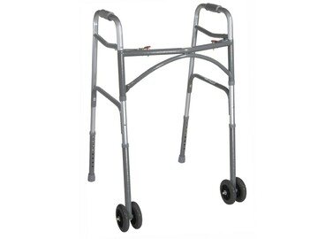 SALE: Heavy Duty Bariatric Two Button Walker with Wheels