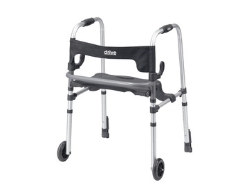 SALE: Drive Medical Clever Lite LS Walker with Seat and Push Down Brake