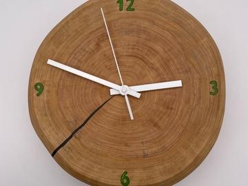 ": 11"" Elm Wood x Epoxy Resin Clock"
