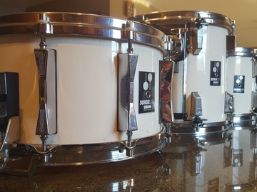 VIP Members' Sales Only: Sonorlite 7.25 x 14 Snare drum Creme Lacquer