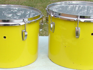Selling with online payment: 1970s Ludwig 9x13 & 10 x 14 rack toms 3 ply shells