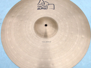 """Selling with online payment: PAISTE Alpha series 20"""" Full Ride Excellent condition"""