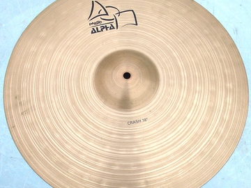 "Selling with online payment: PAISTE Alpha series 18"" crash Excellent condition"