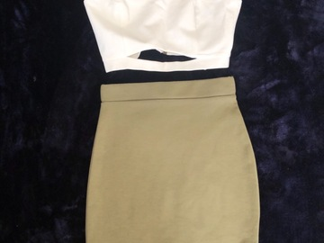Selling without online payment: Soldier green skirt