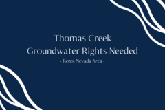 Water Right Buyer: Thomas Creek Water Rights