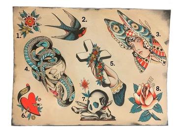 Tattoo design: 2 . Traditional bird