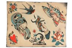 Tattoo design: 4.  Snake and Skull