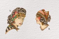 Tattoo design: 1 - Side Profile Romani Portrait