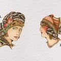 Tattoo design: 2 - Side Profile Romani Portrait