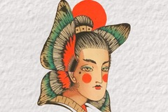 Tattoo design: Abstract Butterfly Geisha