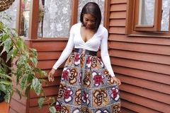 For Sale: Filona  African Print Full Length / Maxi Skirt 100 % Wax Cotton H