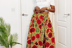 For Sale: Maxi slit skirt with zipper in front