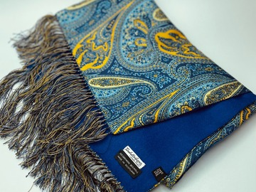 Online payment: Reversible Silk & Cashmere paisley scarf - Turnbull & Asser