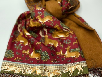 Online payment: Reversible  silk/wool scarf Holland & Holland