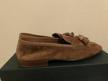 Online payment: Edward Green Portland mace suede loafers. 10.5 Uk. New with box