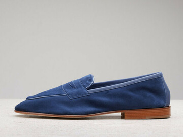 Online payment: Edward Green Polperro in navy suede, 10.5 New With box