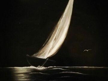 Sell Artworks: Night race (Regata in notturna)