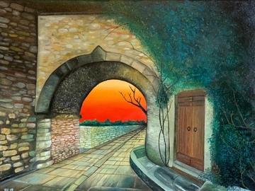 Sell Artworks: Tuscan village (Borgo toscano)