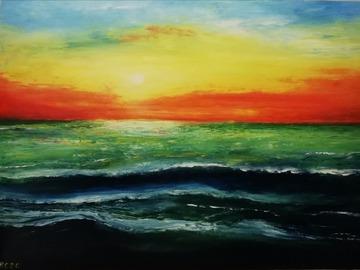 Sell Artworks: Green sea (Mare verde)