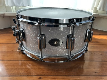 "Selling with online payment: Rogers 14"" x 6.5"" WMP Wood Dynasonic Snare Drum Reissue with case"