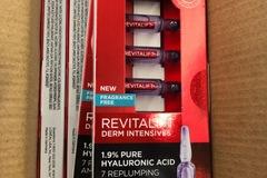 Liquidation/Wholesale Lot: 8 L'Oreal Revitalift Derm Intensives Hyaluronic Acid Ampoules