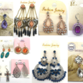 Liquidation/Wholesale Lot: 100 Pair Sample Earrings Gorgeous styles ! Each pair Different