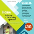 Offering with online payment: OKC Interiors- Painting , Wallpaper, Decorative works
