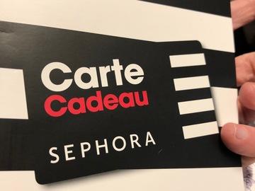 Vente: Carte cadeau Sephora  (50€)