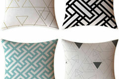 Liquidation/Wholesale Lot: FeelAtHome Throw Pillow Covers Cases 18 X 18 Inches Set Of 4