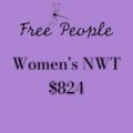 Liquidation/Wholesale Lot: Sold Free People NWT $824 Unique Pieces