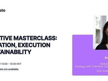Live class: Masterclass: Innovation, Execution & Sustainability