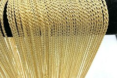 Liquidation/Wholesale Lot: 50 Diamond Cut Rope Chains 14 kt Gold Plated - 18 inch- 3 mm
