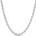 Liquidation/Wholesale Lot: 20 Diamond Cut Rope Chains Sterling Silver Plated - 18 inch- 6 mm
