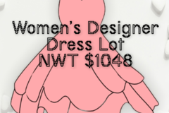 Liquidation/Wholesale Lot: Designer Dress Lot. All NWT $1048