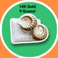 Liquidation/Wholesale Lot: Classic 14K Gold Shrimp Swirl Earrings 9 Grams TW  Classic