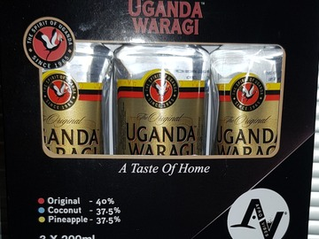For Sale: Uganda Waragi (Gin) Pack of 3