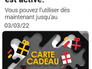 Vente: E-Carte Cadeau FNAC - DARTY (50€)