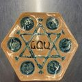 Selling with online payment: Hand painted Seder Plate