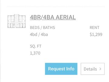 List Your Space: 4x4 full apartment in Landmark