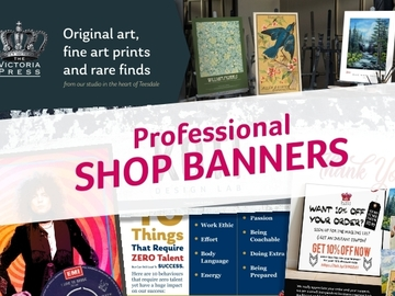 Offering online services: Professional Etsy banner design