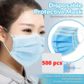 Liquidation/Wholesale Lot: 500pcs Disposable Medical Grade Face Mask 3Layer Shipped From USA