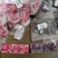 Liquidation/Wholesale Lot: 174 Piece Closeout Lot Glass Stretch Bracelets