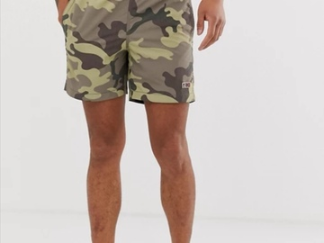 Selling with online payment: Camo print swim short in khaki