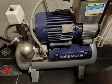 Gebruikte apparatuur: COMPRESSOR TORNADO DURR  70